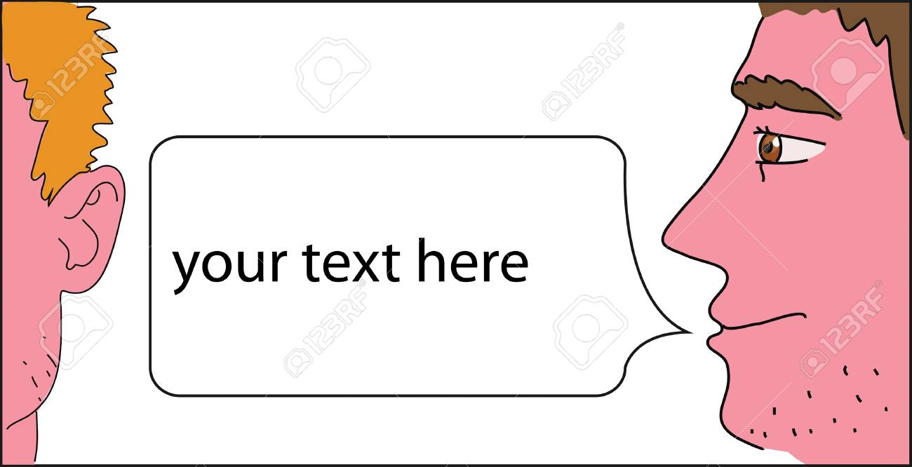 one man saying something to another Stock Vector - 17569855