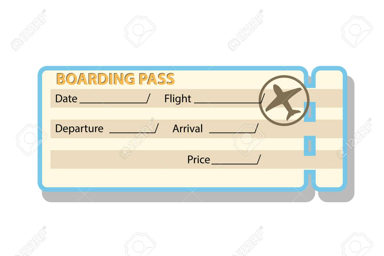 Großartig Flugzeug Ticket Vorlage Zeitgenössisch - Bilder für das ...