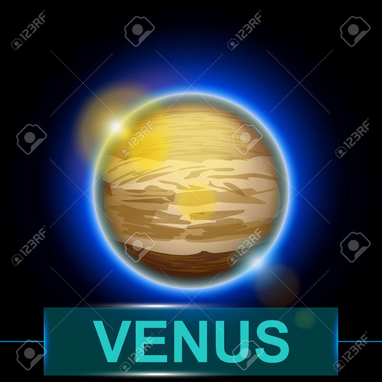 Illustration of planet venus on dark background with shine illustration of planet venus on dark background with shine 40189693 voltagebd Choice Image