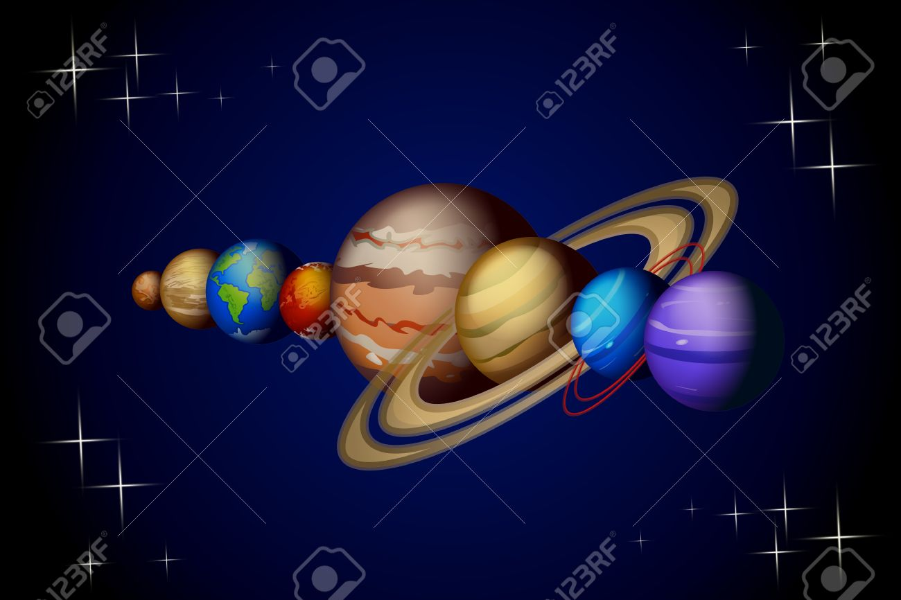 Illustration of solar system planets from venus to neptune on dark illustration of solar system planets from venus to neptune on dark background 40404289 voltagebd Choice Image