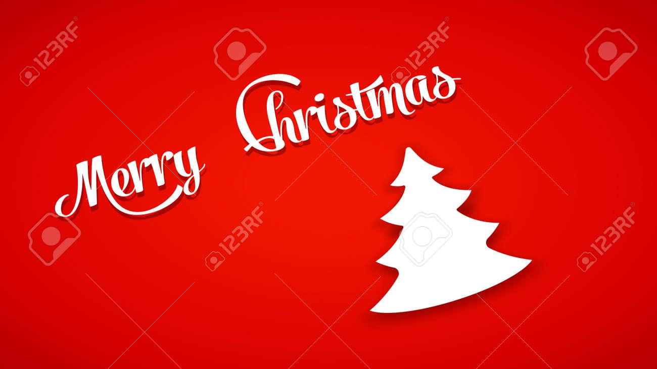 Ilustración Del árbol De Navidad De Color Blanco Con Fondo De Color ...