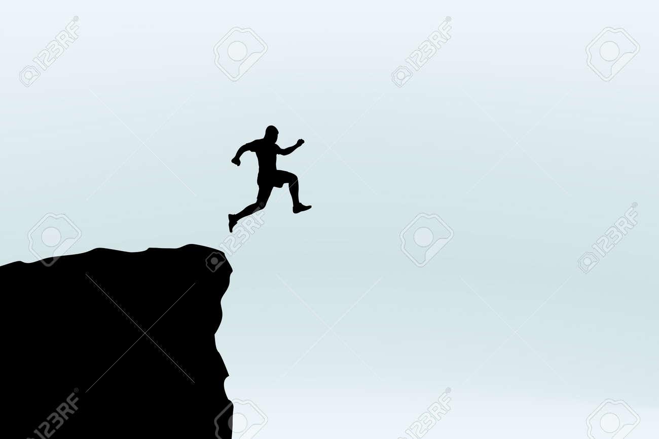 man jump silhouette - 75713319
