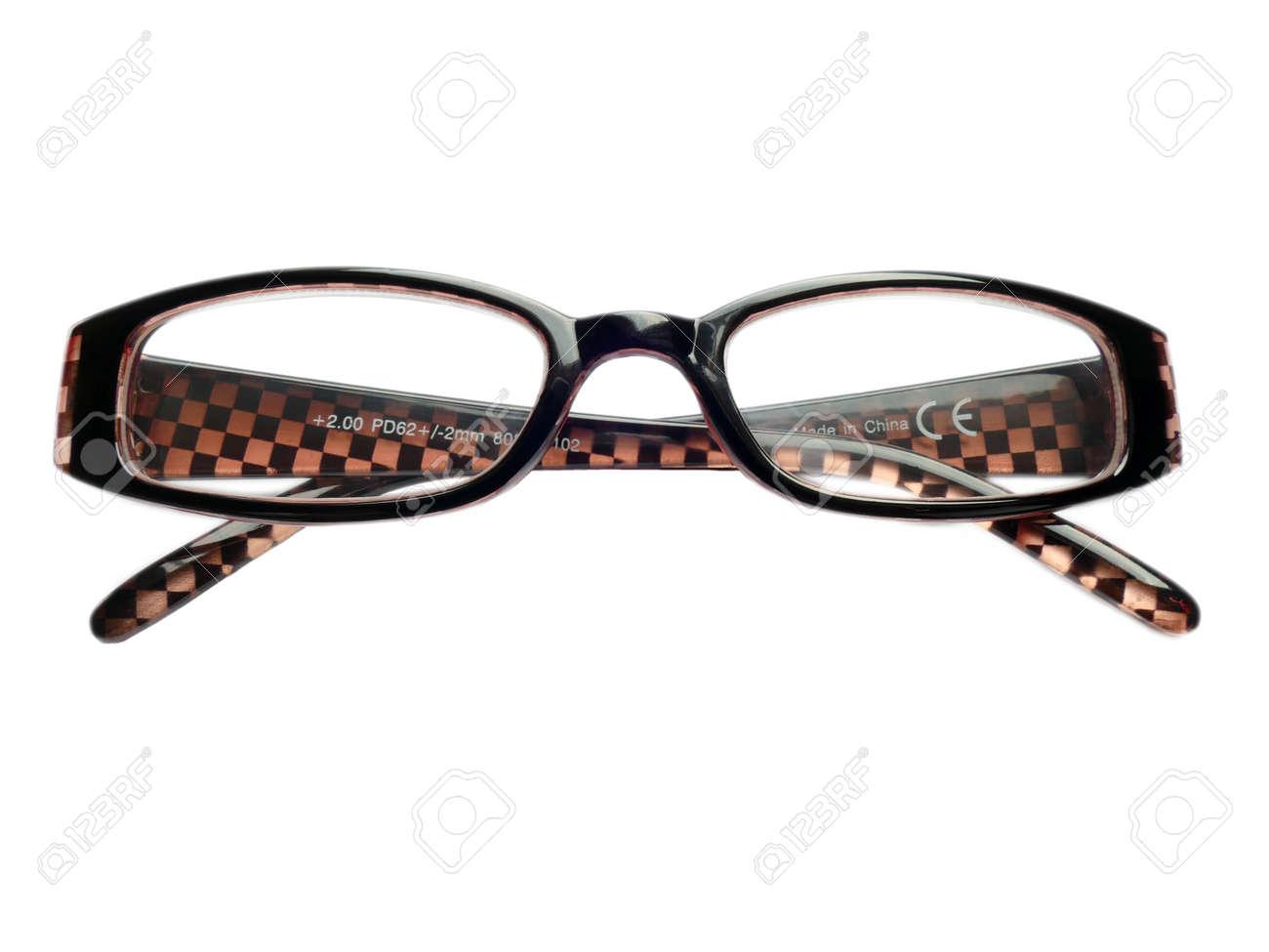 Paar Brillen, Lesebrillen, Brillenfassungen, 2,0 Isoliert Auf Weiß ...