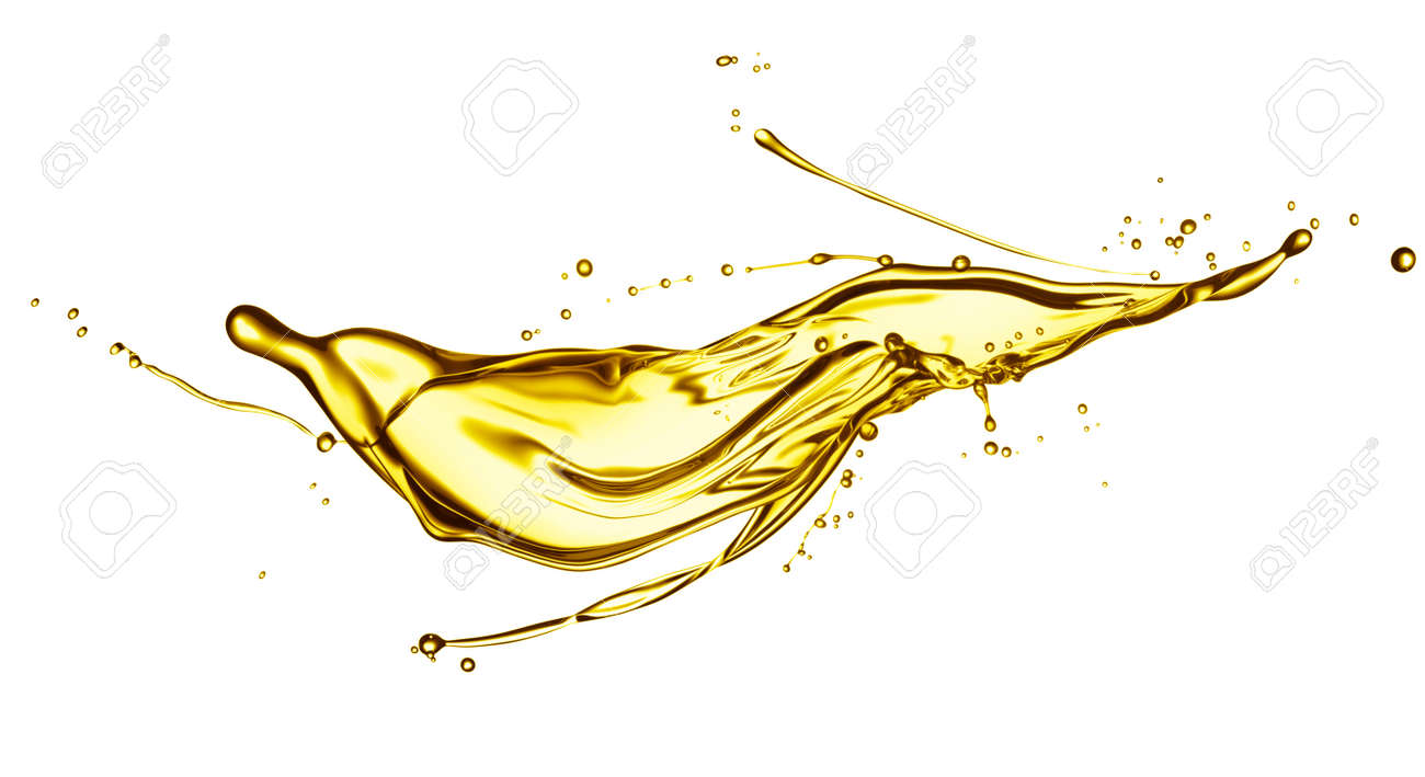 engine oil splashing isolated on white background - 36272367