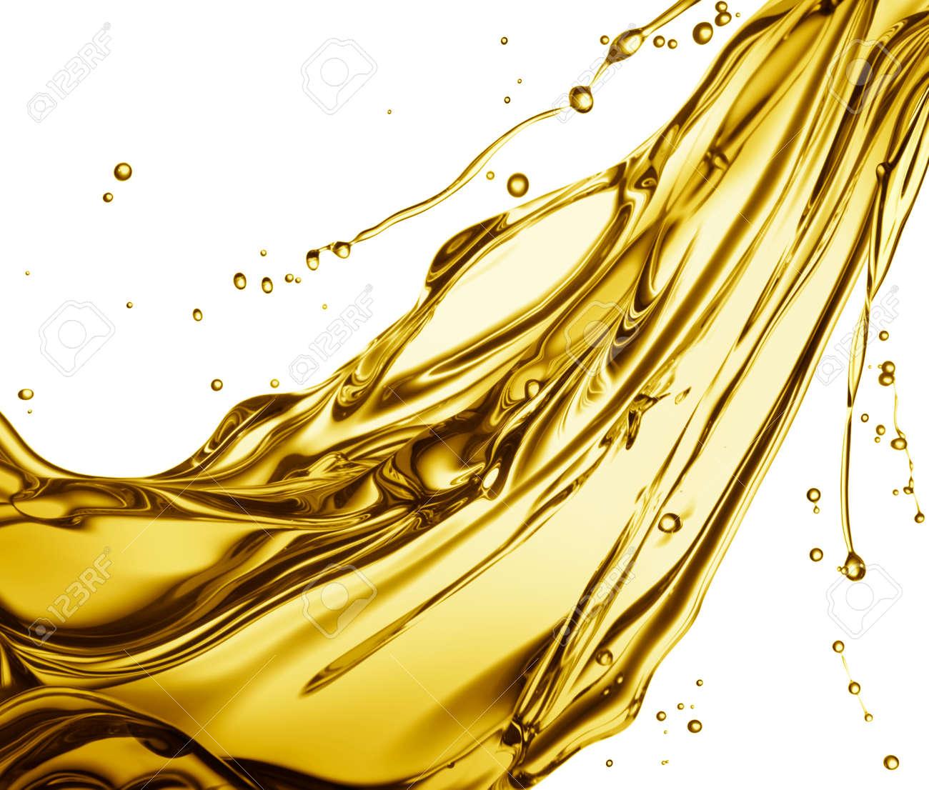 engine oil splashing isolated on white background - 36272372
