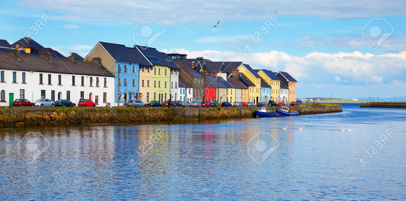 Panorama of the Claddagh in Galway city, Ireland. Stock Photo - 12943784