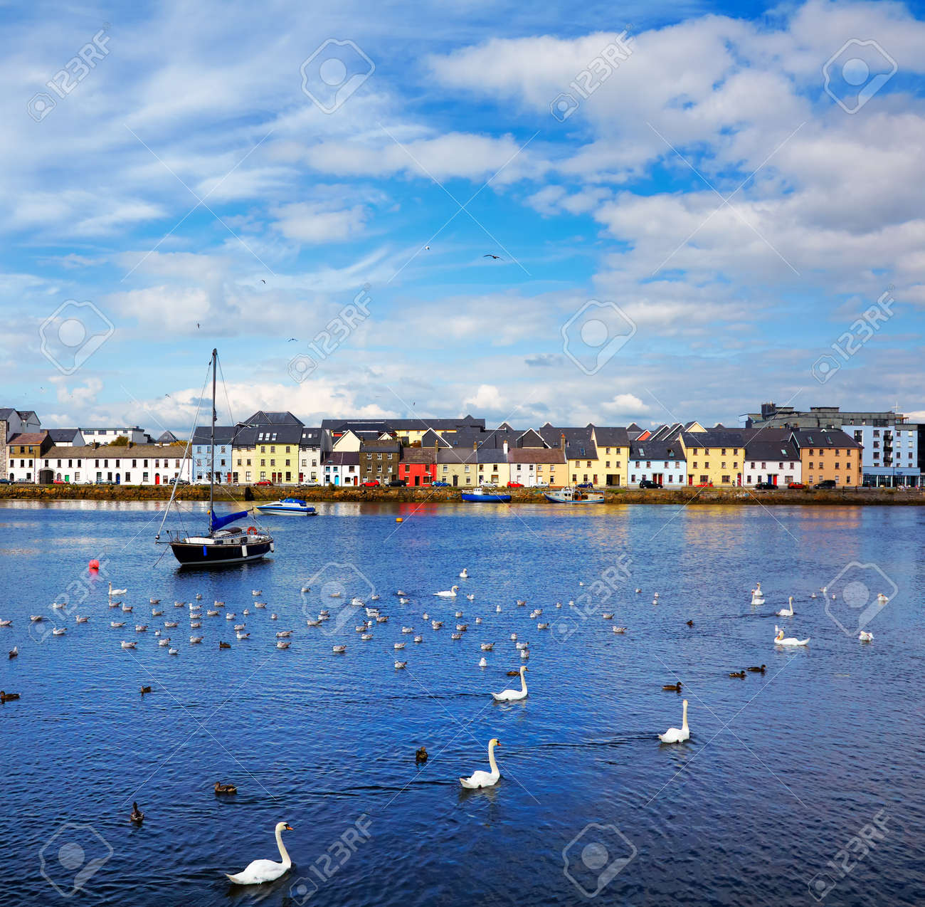 The Claddagh in Galway city during summertime, Ireland. Stock Photo - 12953444