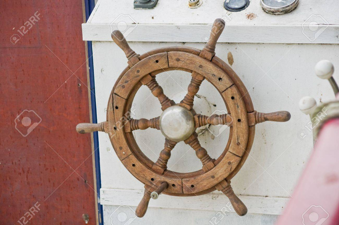 Wooden Boat Steering Wheel Stock Photo Picture And Royalty Free Image Image 2408995
