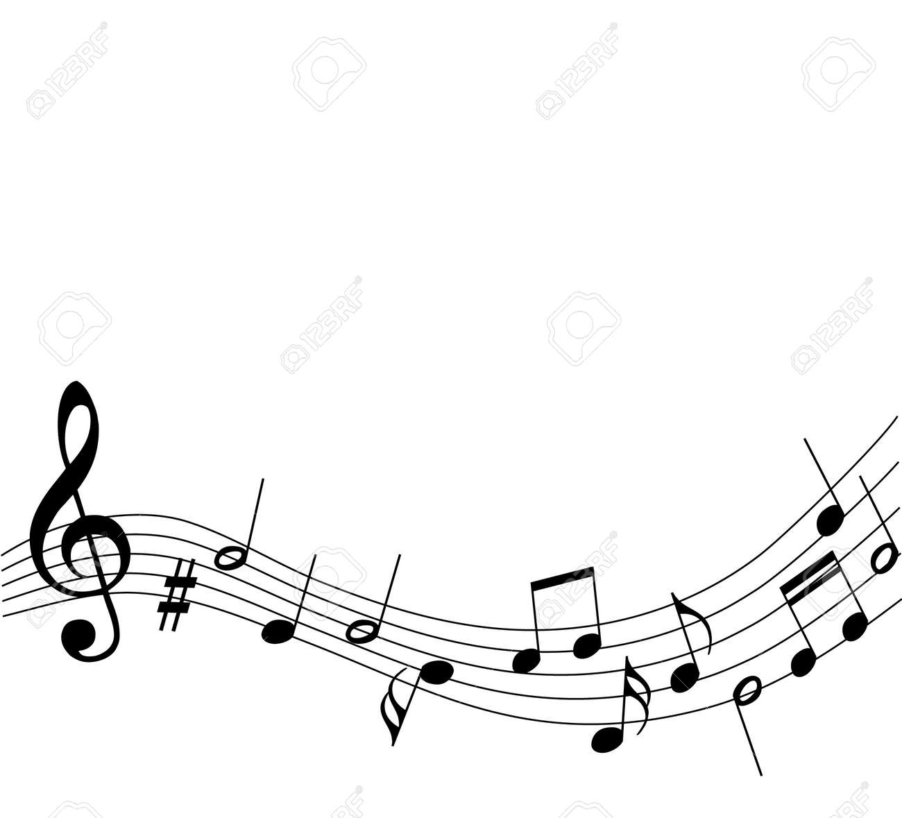 Music notes stock illustrations vectors clipart free image
