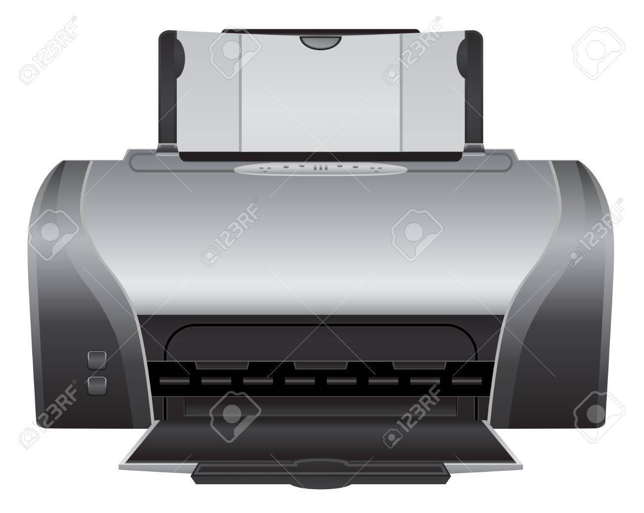 printer - realistic icon Stock Vector - 21506124