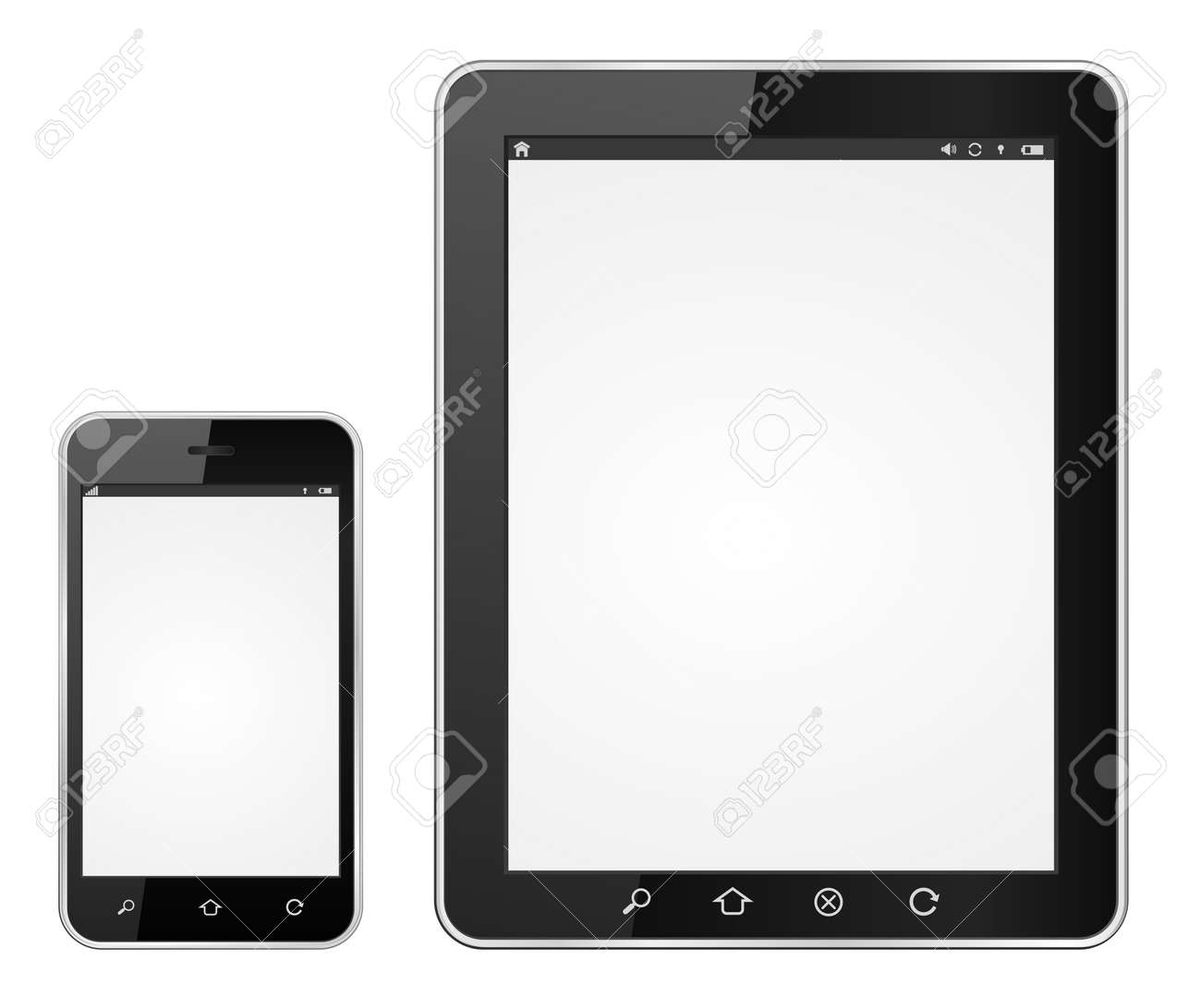 modern smartphone and tablet computer vector icon Stock Vector - 21506456