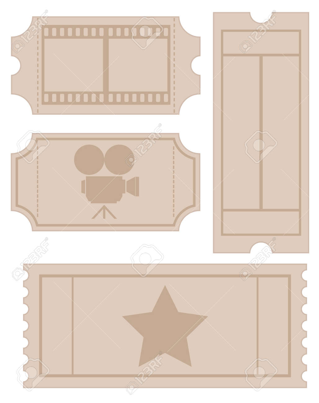 Vintage Cinema Ticket Royalty Free Cliparts Vectors And – Theater Ticket Template