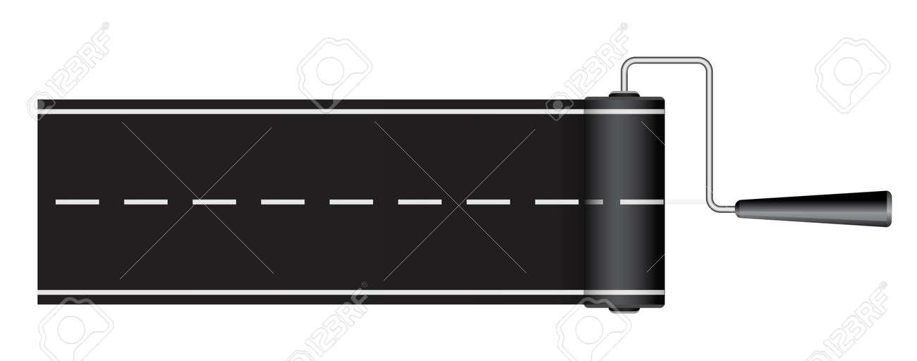 Dessin De Route peinture route de dessin à rouleaux - 3d concept clip art libres de
