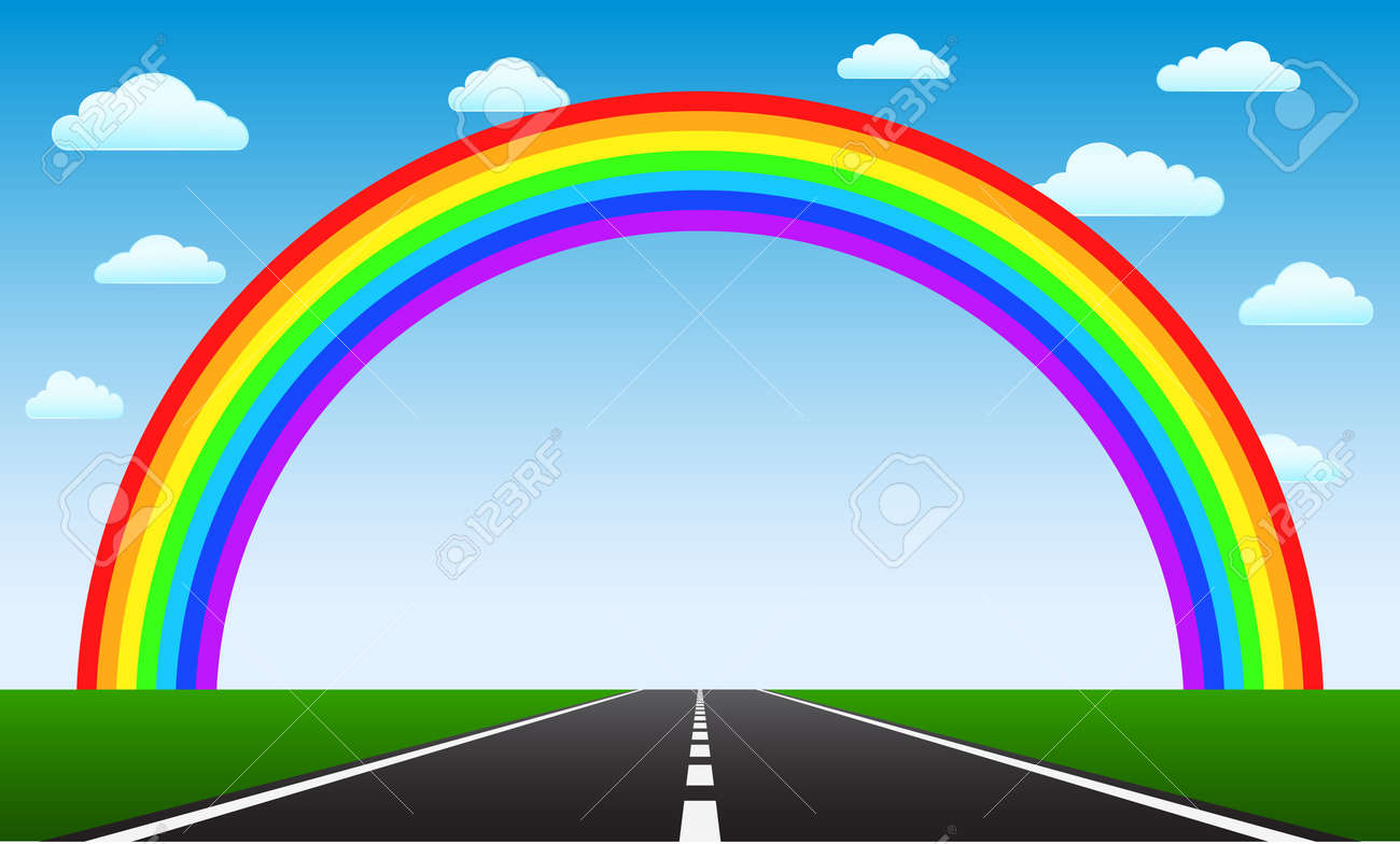 road to rainbow Stock Vector - 21506945