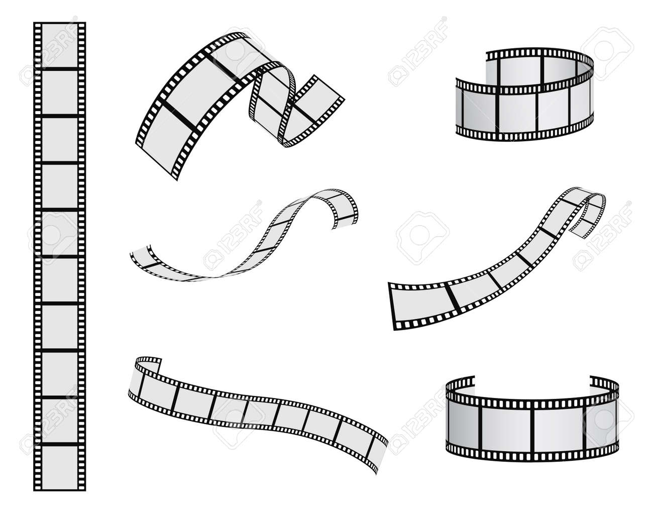 film reel vector set royalty free cliparts vectors and stock rh 123rf com film reel vector icon film reel vector graphic