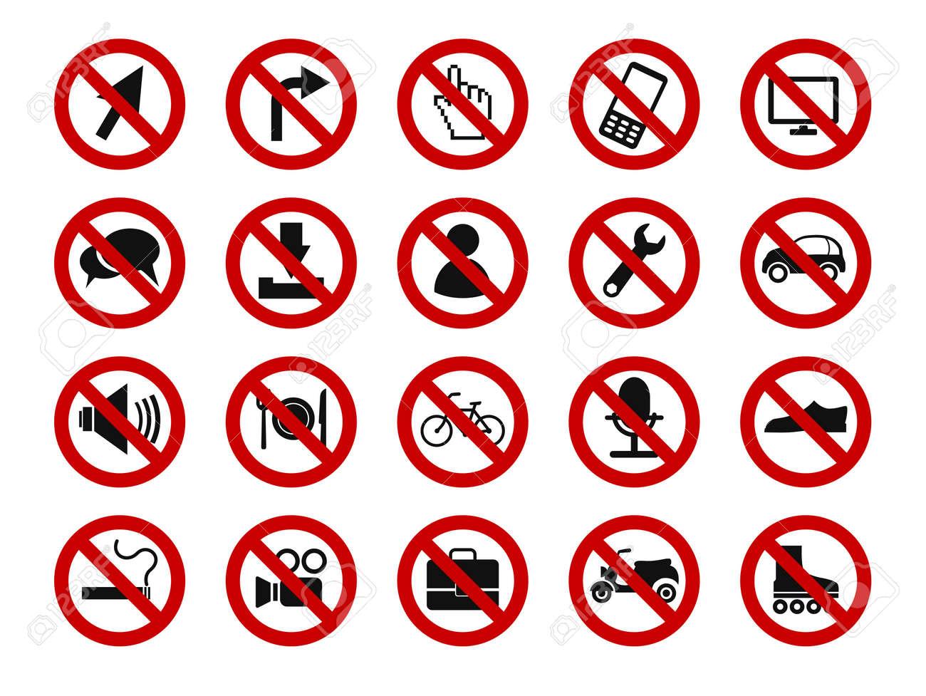 forbidden sign icon set Stock Vector - 22068990