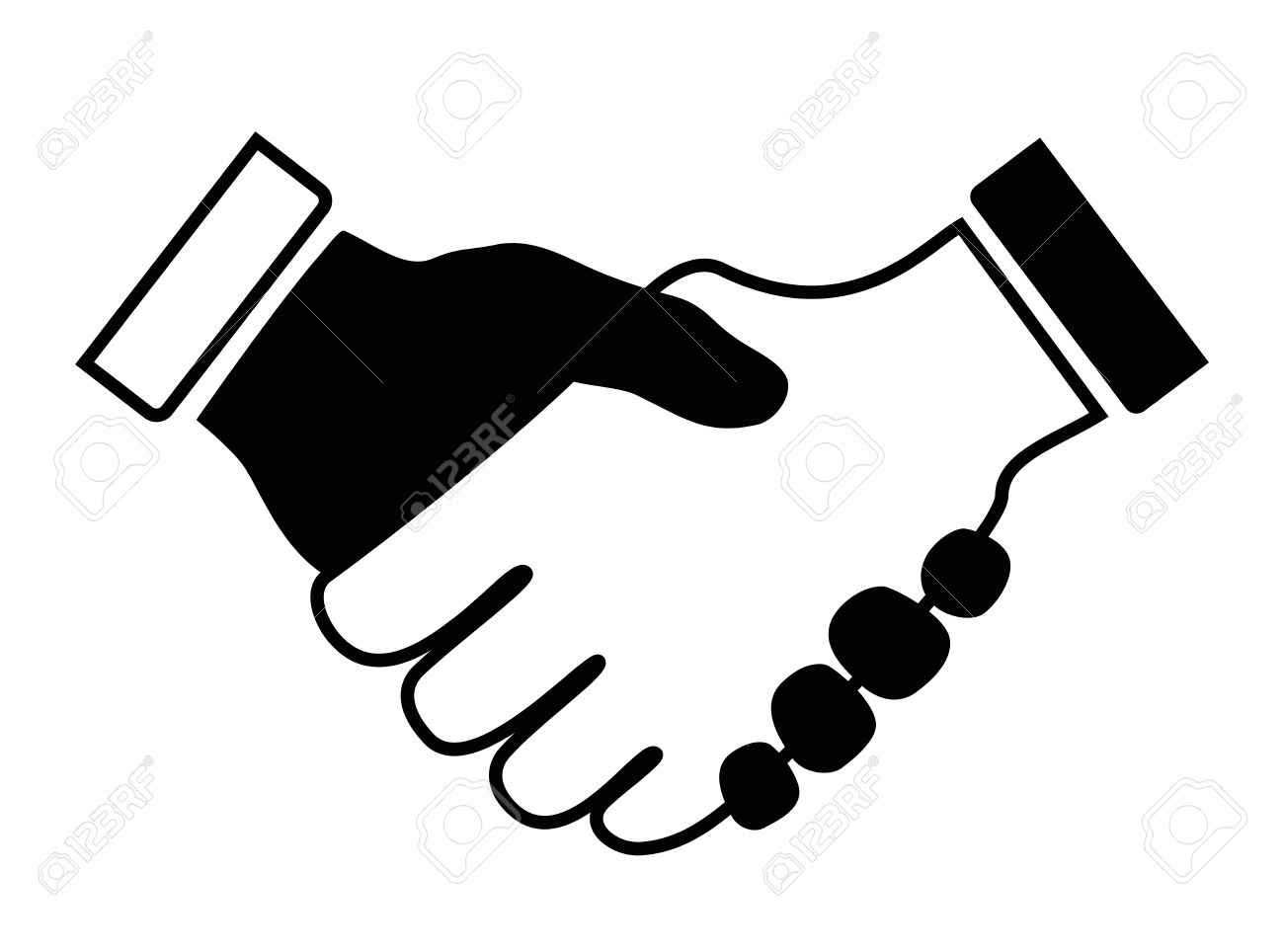 hand shake icon black and white royalty free cliparts vectors and rh 123rf com corporate handshake clipart handshake clipart black and white
