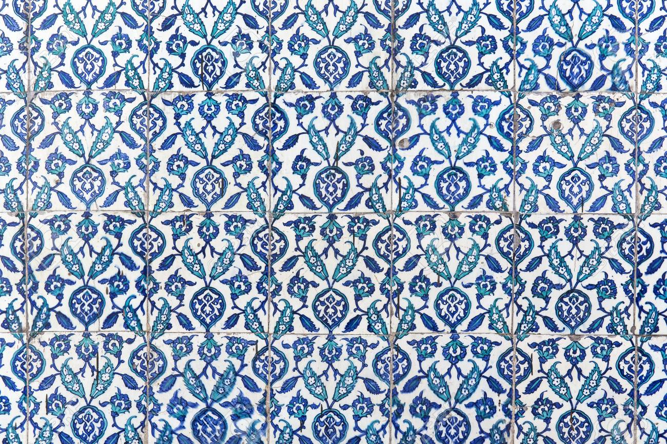 Tiles Of Walls Of New Mosque In Fatih, Istanbul, Turkey Stock Photo ...