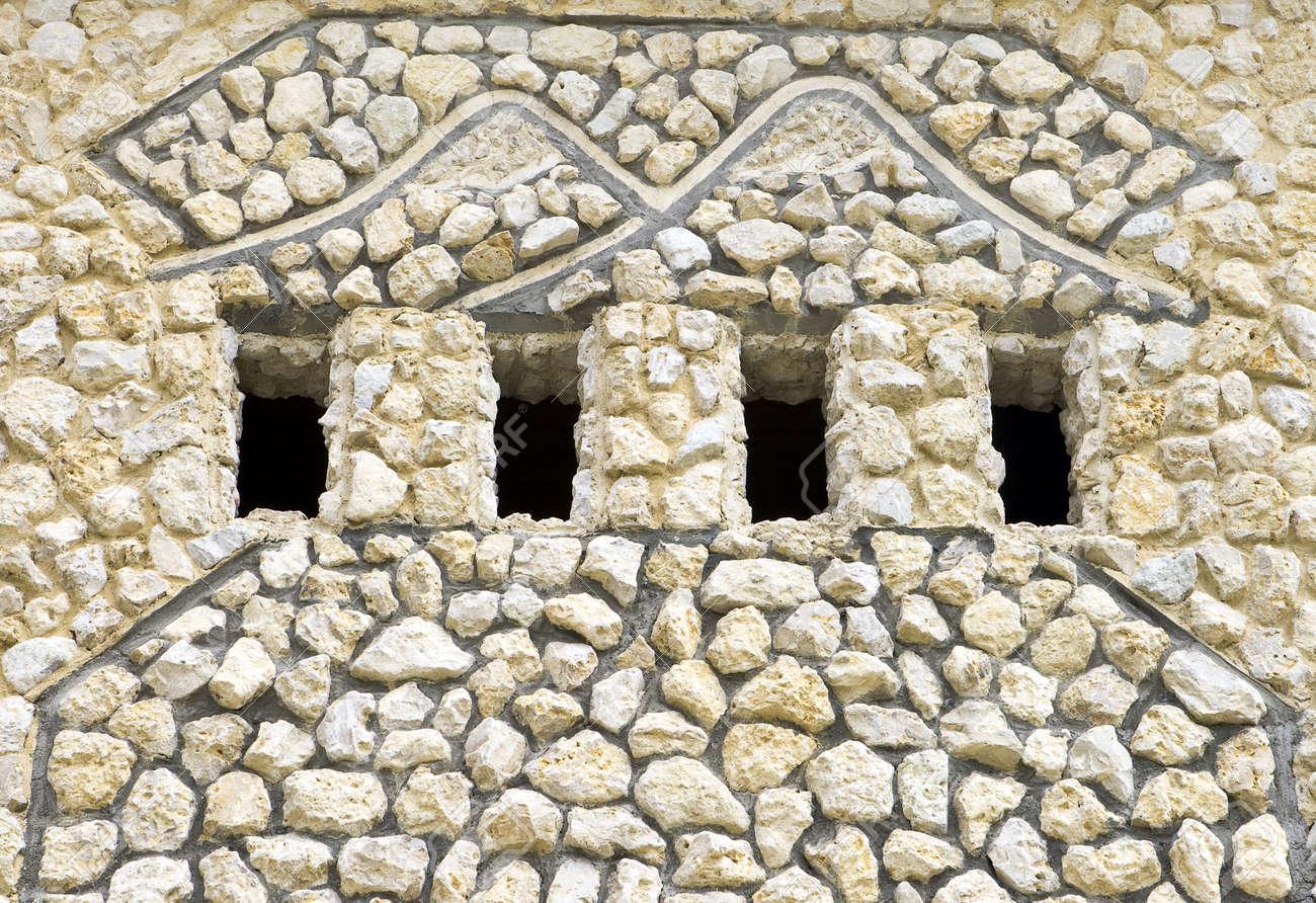 adornos exteriores de decoracin con paredes de piedra natural foto de archivo 10851063