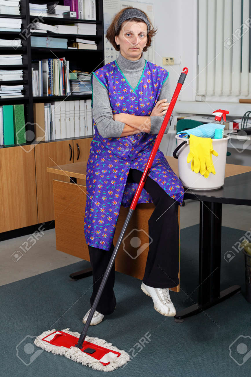 Portrait Of Professional Cleaning Lady. Stock Photo, Picture And ...