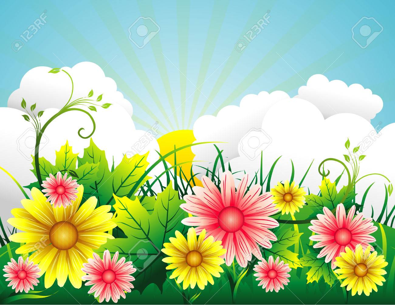 garden vector background