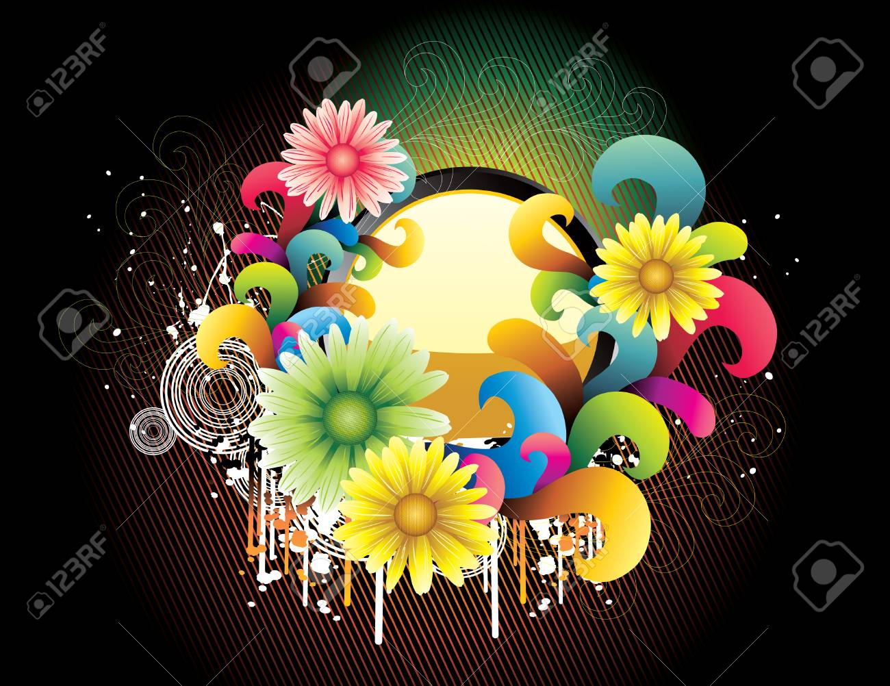 flower vector illustration Stock Vector - 6198626