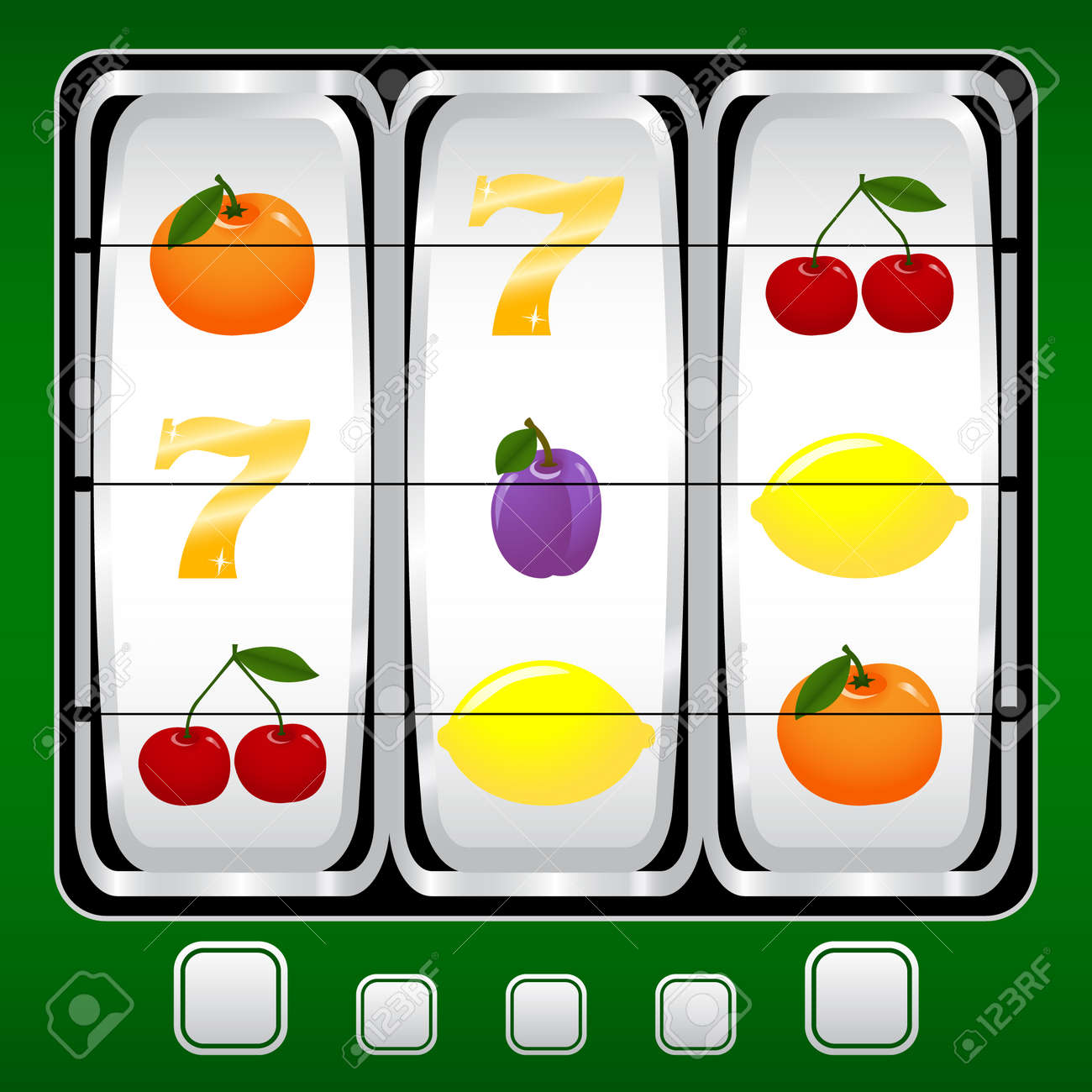 Slot machine Stock Vector - 3054255