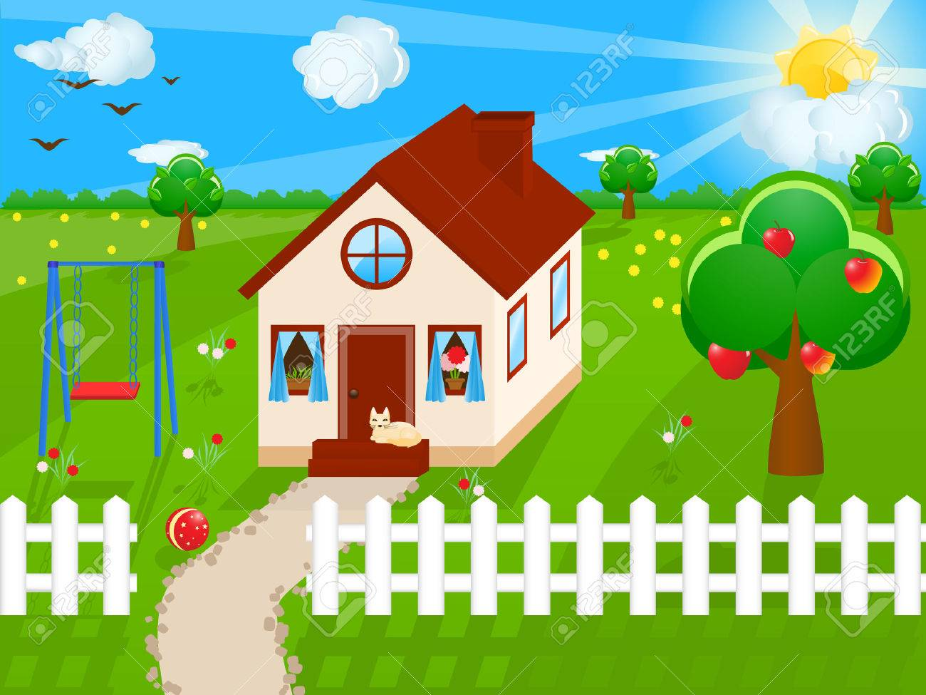 Vector illustration of a house Stock Vector - 3559028