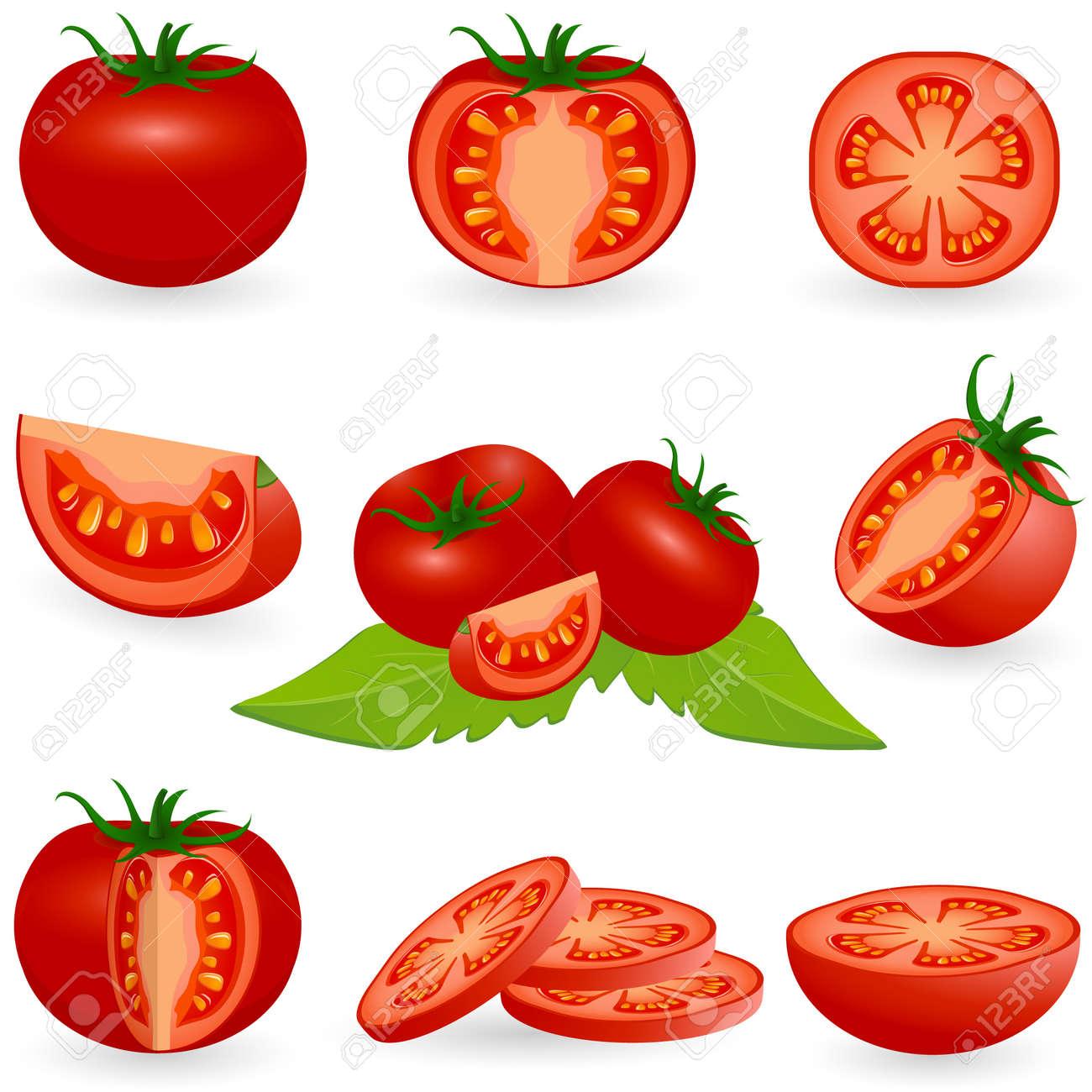 アイコン セットのトマトのイラスト素材 ベクタ Image