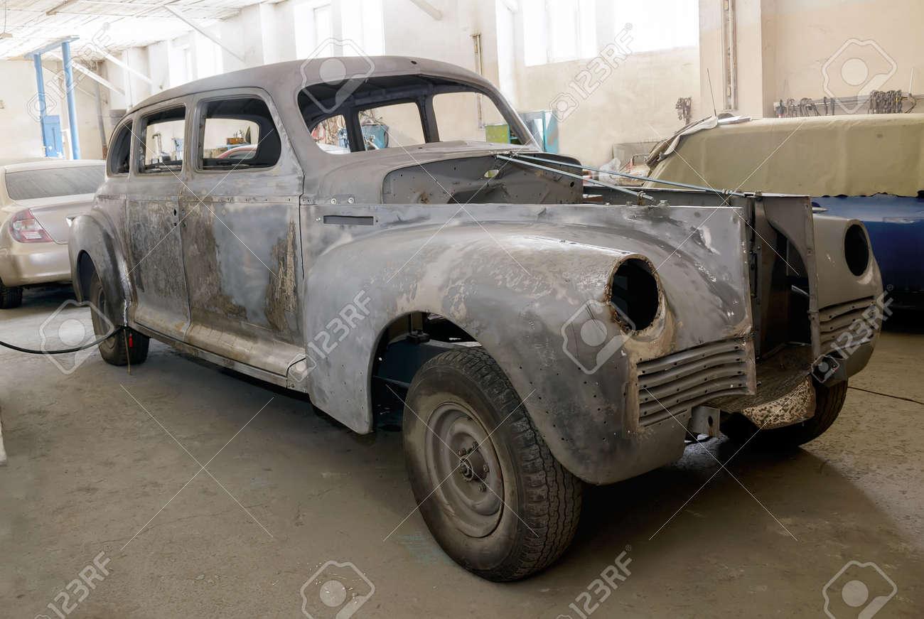 Odessa, Ukraine-February 25, 2018: Vintage 1950 ZIS-110 During ...