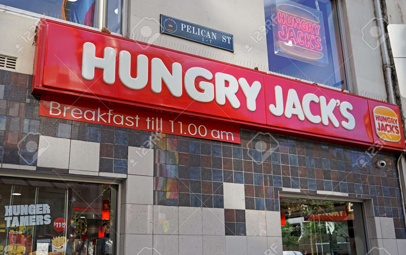 Sydney Australia October 17 2017 Hungry Jack S Fast Food Stock Photo Picture And Royalty Free Image Image 88515134