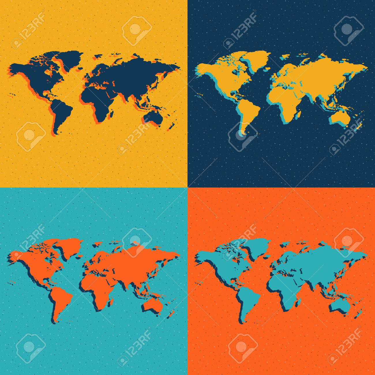 Color world maps flat style vector eps illustration royalty free color world maps flat style vector eps illustration stock vector 60534965 gumiabroncs Images