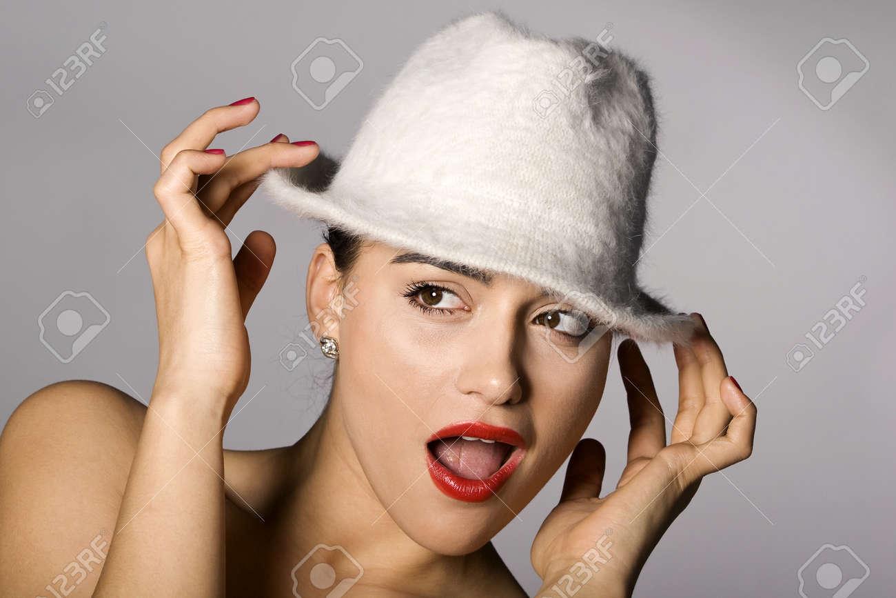 Mafia woman photo series. Studio shot Stock Photo - 11806033