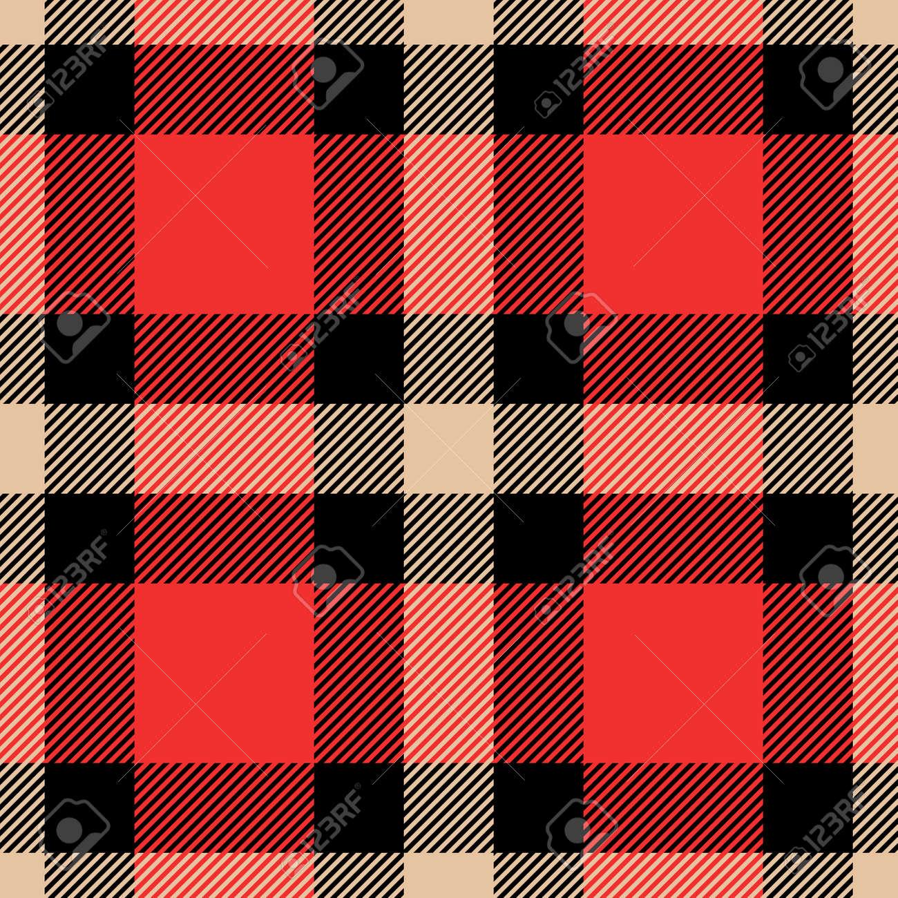 Classic tartan and buffalo check plaid seamless patterns. Vector eps 10 - 112883009