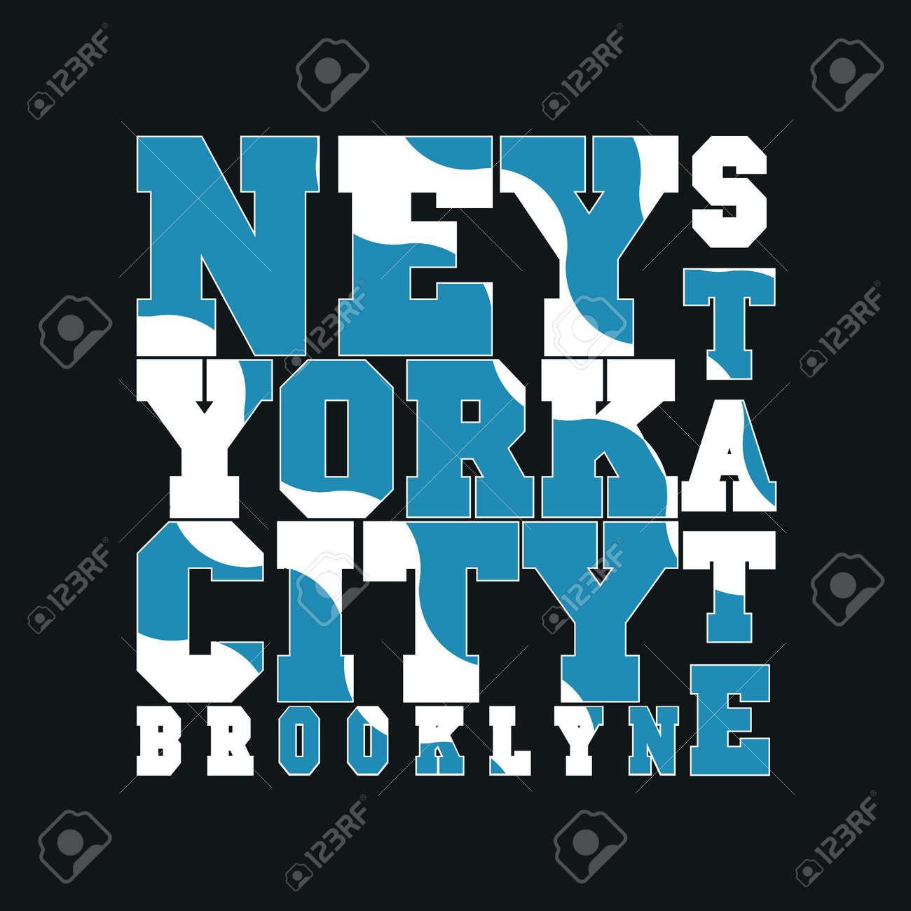 Design a t shirt nyc - New York Typography Design Graphic T Shirt Printing Man Nyc Original Design