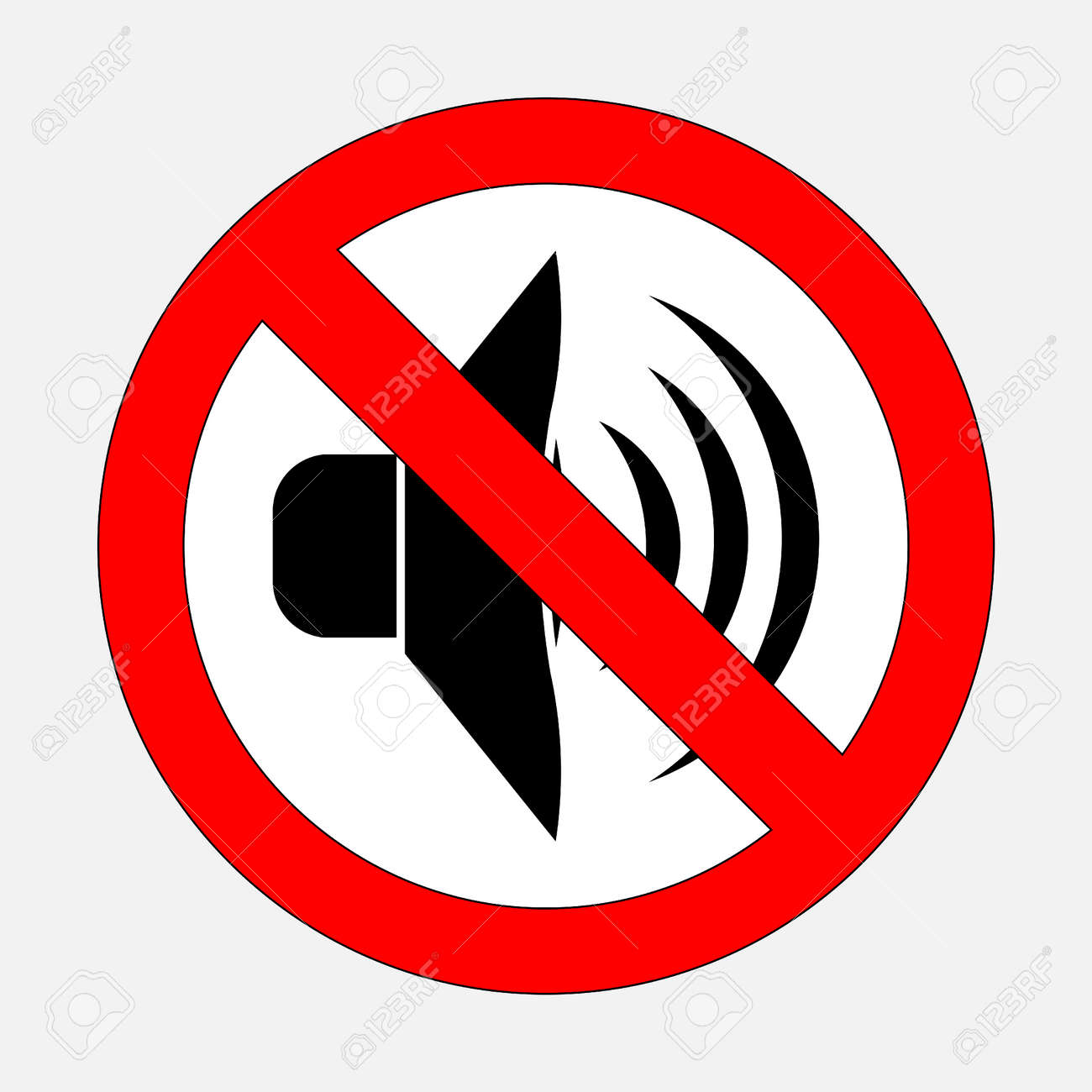 Sign prohibiting noise signals is prohibited silent fully sign prohibiting noise signals is prohibited silent fully editable vector image stock vector biocorpaavc Image collections