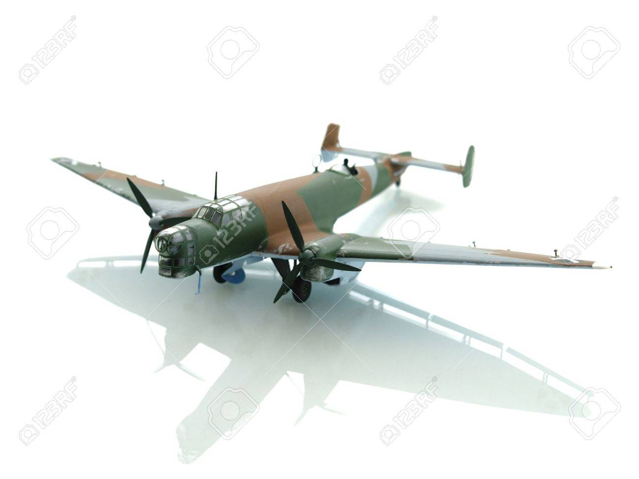 military toy airplane on white background Stock Photo - 2624242