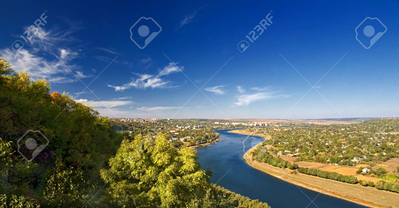 a picturesque landscape with river valleys - 8709929