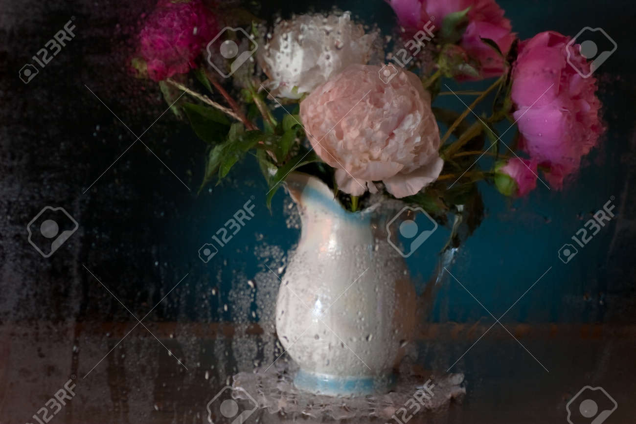 Still Life with Peonies Stock Photo - 11544534