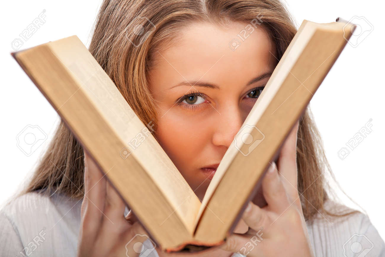 woman with book Stock Photo - 9038886