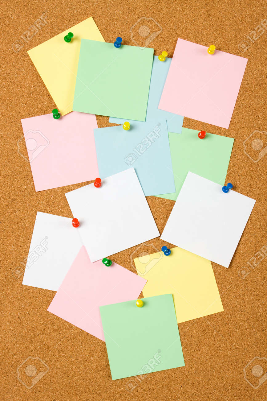 Cork notice board with blank paper notes Stock Photo - 6488082