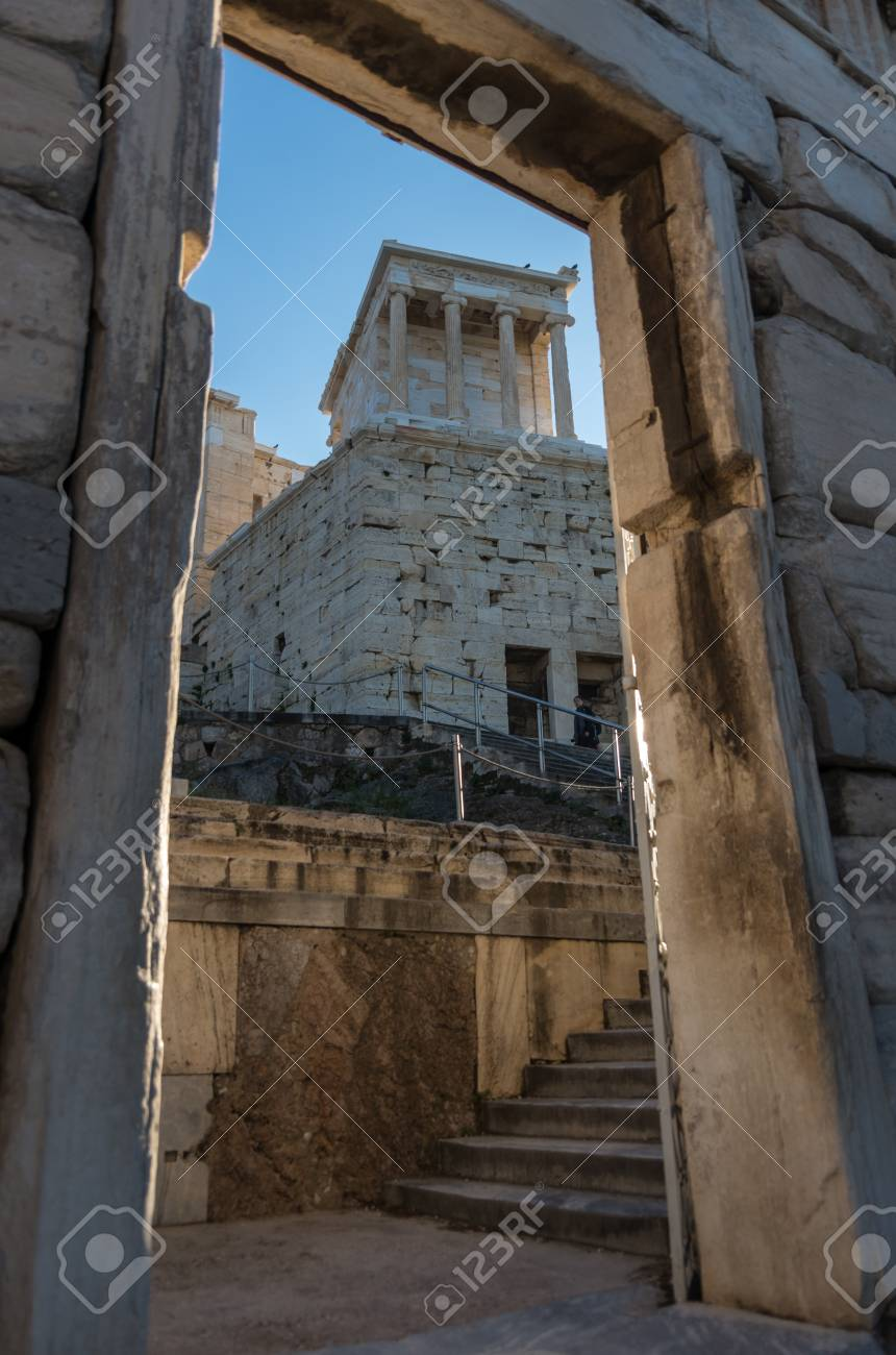 Athensgreece December 27 2017 Temple Of Athena Nike On The