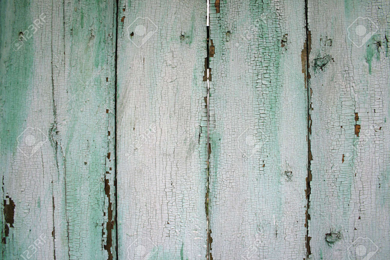 Painted Wood Fence Stock Photo