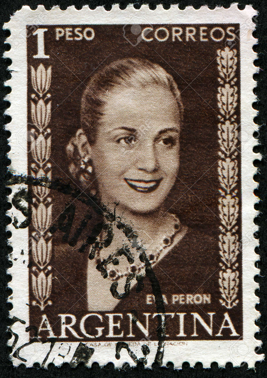 ARGENTINA - CIRCA 1948: A stamp printed in Argentina shows Eva Peron, circa 1948 Stock Photo - 8330256