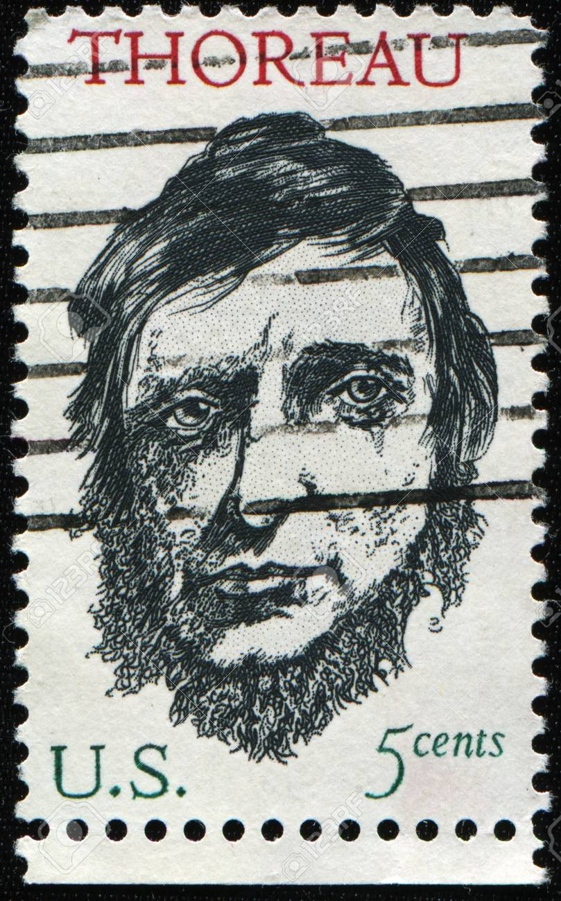 UNITED STATES - CIRCA 1967: A stamp printed by United states, shows Henry David Thoreau, circa 1967 Stock Photo - 8381335