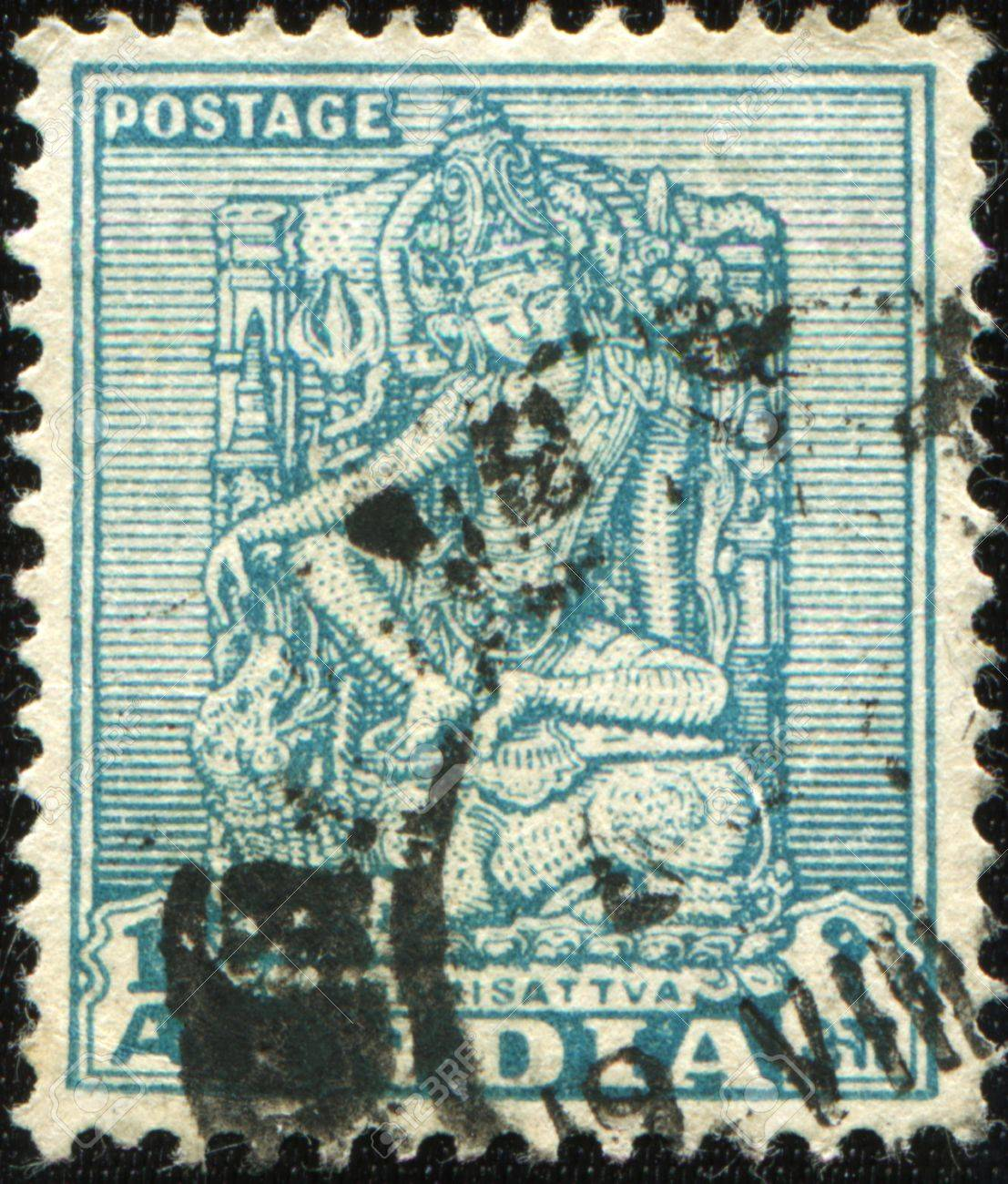 Magnificent India Circa 1949 A Stamp Prunted In India Sshows Bodhisattva Hairstyles For Women Draintrainus