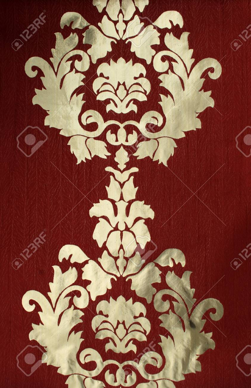fragment of antique textile with oriental symmetry pattern Stock Photo - 9340969