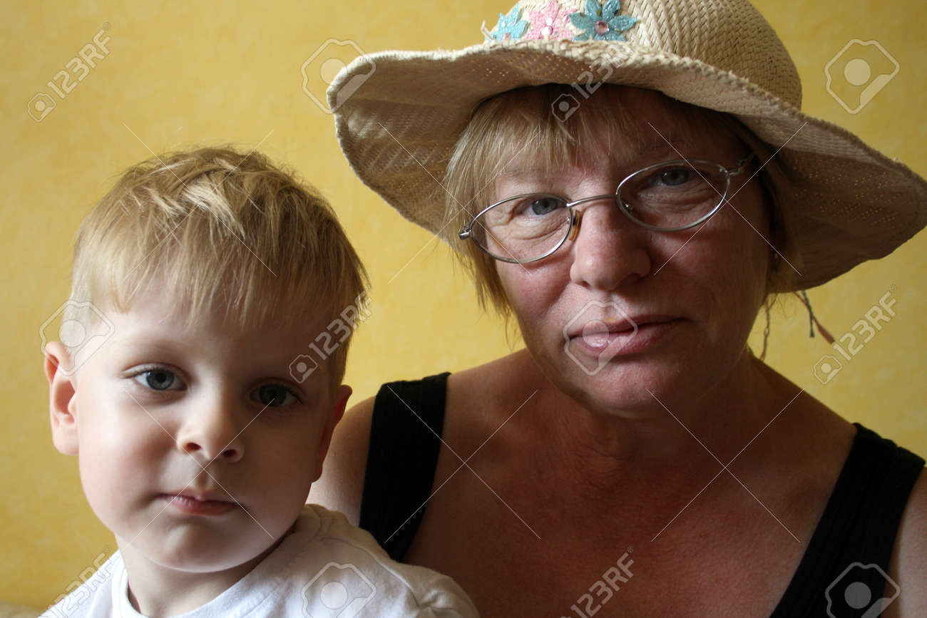 grandson and grandmother Stock Photo - 10382958