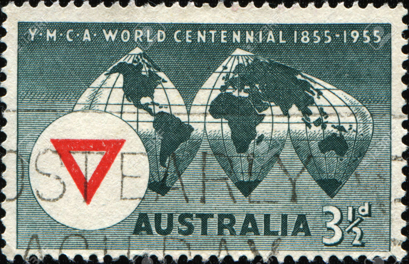 Map Of Young Australia.Australia Circa 1955 A Stamp Printed In Australia Shows The