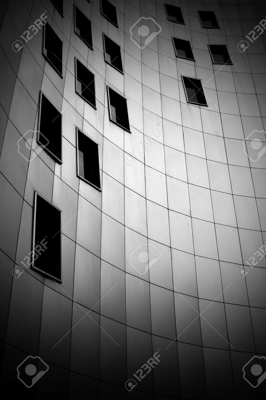 black and white photo of modern building Stock Photo - 11262427